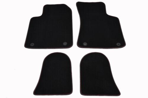 Fußmatten für Audi TT 8N Original Qualität Velours Doppelnaht rot-rot Nubuk