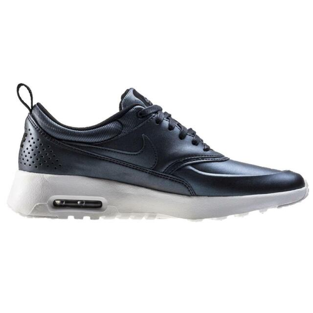 5529d3dfb5 Nike Air Max Thea SE Womens Black Leather Athletic Lace up Running ...