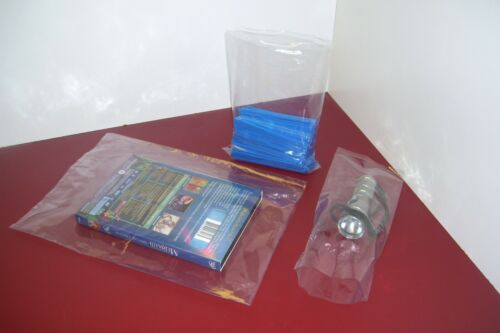 200 CLEAR 4 x 52 POLY BAGS PLASTIC LAY FLAT OPEN TOP PACKING ULINE BEST 2 MIL