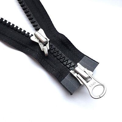 580 YKK Vislon Kunststoff Wendereißverschluss teilbar schwarz