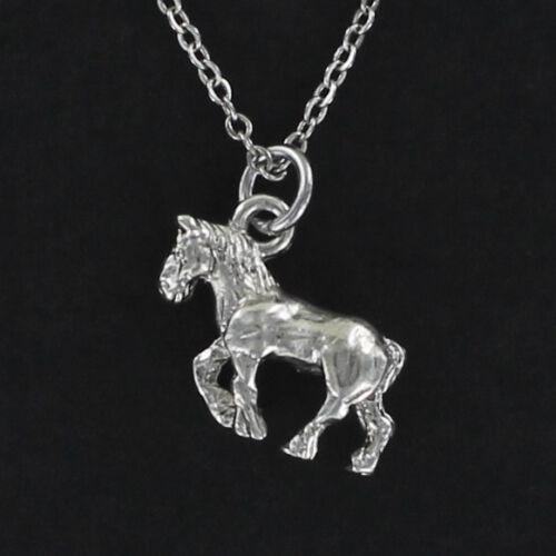Clydesdale Horse Necklace-Étain Charme sur Câble Chaîne de travail bière NOUVEAU