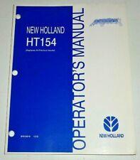 New Holland Ht154 Wheel Rake Operators Owners Manual 1202 Nh Original