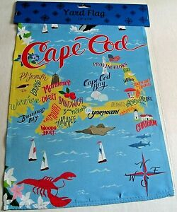 CAPE-COD-Decorative-Yard-Flag-12-034-x-18-034-CAPE-COD-DESTINATIONS-Flip-Flag