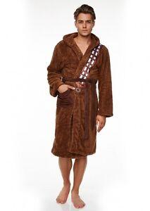 Mens-Adult-Man-Star-Wars-Chewbacca-Wookie-Robe-Dressing-Gown-Bath-Night-Chewbaca