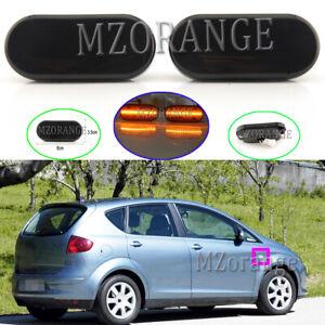 2x-LED-Dynamic-Side-Marker-Light-Turn-Signal-For-Seat-Altea-Exeo-Ibiza-Leon-Mii