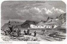 Sicilia: STRETTO DI MESSINA. Con Scilla,Aspromonte,Calabria. Stampa Antica. 1876