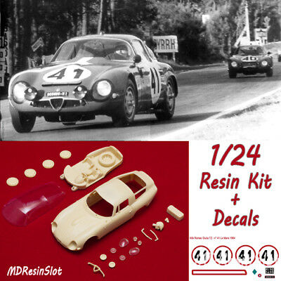 1/24 Alfa Romeo Giulia Tz1 Le Mans '64 Resin Body Kit Slot Car + Decals