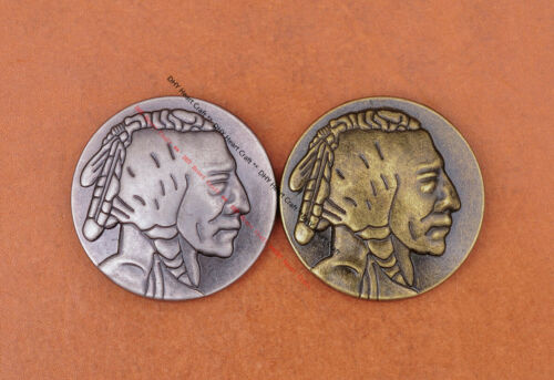 10X RETRO SILVER NICKEL INDIAN HEAD LEATHERCRAFT WESTERN SADDLE BRIDLE CONCHOS