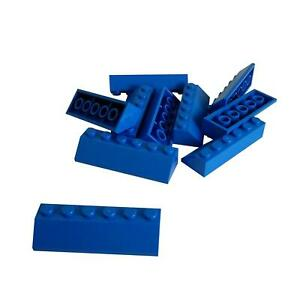 Lot of 10 LEGO Trans-Dark Blue Slope 45 2 x 1