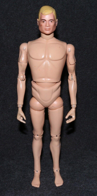 Gi Joe 1964 1960s figura desnuda rubia TM pesado Delineador de ojos