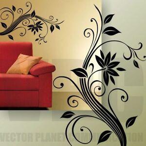 wall stickers fiore camera soggiorno adesivi murali decorazioni ...