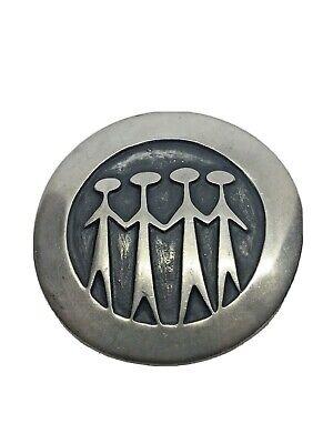 R Tenn Modernist Pewter Brooch Rune Tennesmed Brooch Mid 20th Century. Sweden