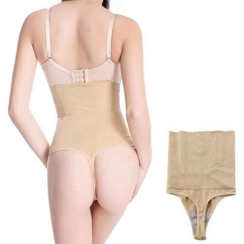 Women/'s High Waisted Thong Shapewear Tummy Control Panties Slimming Body Shaper
