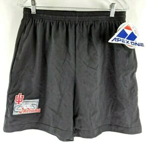 Vintage-90s-Indiana-Universidad-Hoosiers-Hombres-S-Shorts-Negro-Apex-One-Nwt