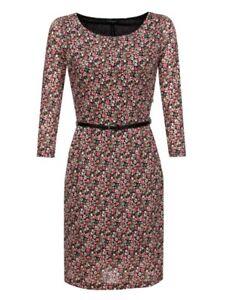 Kleid knielang wickeloptik all over muster