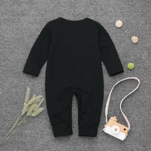 """Newborn Baby Boys Long Sleeve Romper /""""LITTLE BROTHER/"""" Jumpsuit Clothes Outfits"""