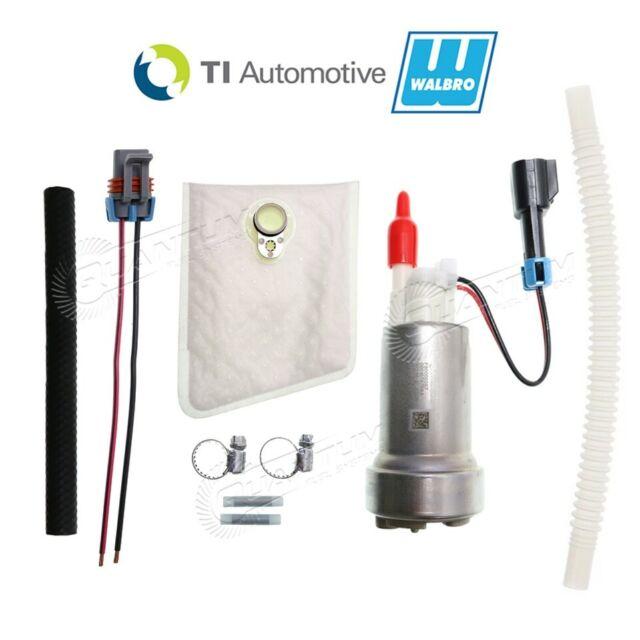 GENUINE WALBRO/TI F90000285 525LPH HELLCAT E85 Fuel Pump + Install Kit