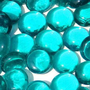 Mini Glass Pebbles Stones Gems Nuggets Rounded Mosaic Tiles Aprox 10 15mm
