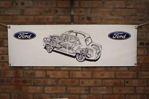 Ford-PREFECTO-100E-107E-Gran-Tienda-Garaje-Banner-Show-De-Trabajo-De-Pvc