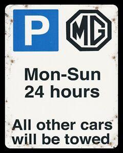 10 x 8 MG PARKING MGB GT MG3 ZS MIDGET CAR WORKSHOP GARAGE METAL PLAQUE SIGN 395