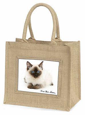 Ragdoll Katze 'Liebe, die Sie Mama' Große Natürliche Jute-einkaufstasche