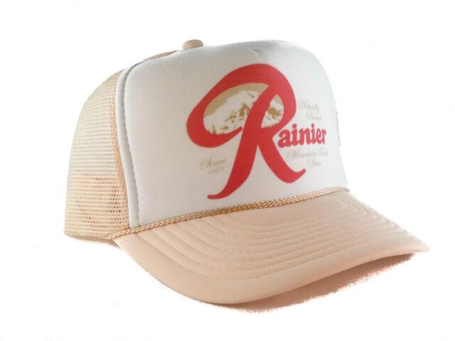 Rainier Beer hat Trucker Hat mesh hat snapback hat khaki new adjustable 2baf05576a6