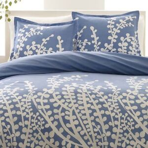City Scene Branches French Blue 3 Piece Duvet Cover Set