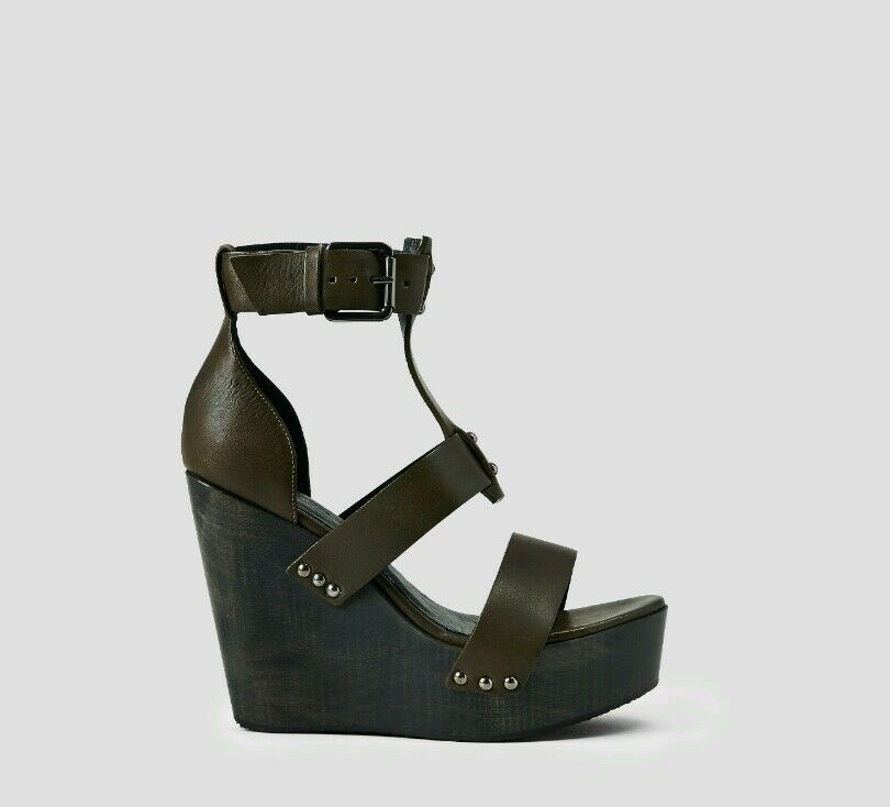 Bnwb Allsaints Rotchko Wedge Sandale.platform heels.schuhe.uk 5/38. BROWN