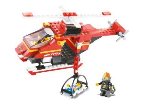 Elicottero Soccorso Di Emergenza 155 PZ COMPATIBILI BRICKS POMPIERI AEROPORTO città
