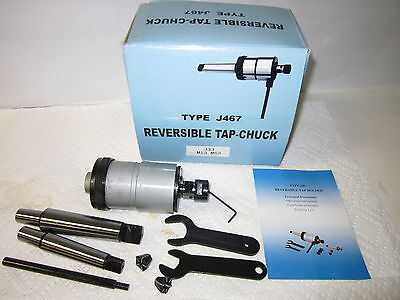 "5//16-3//4/"" Reversible Tapping Head Tap Cuck w Arbors,Collets,Accessories--new"
