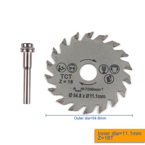 HSS Circular Saw Disc With Shank Set Mini Drill Rotary Tool Cutting Blade 54.8mm
