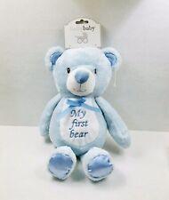 Super Soft Sky Blue Material Emile et Rose Teddy Rattle Baby Blue