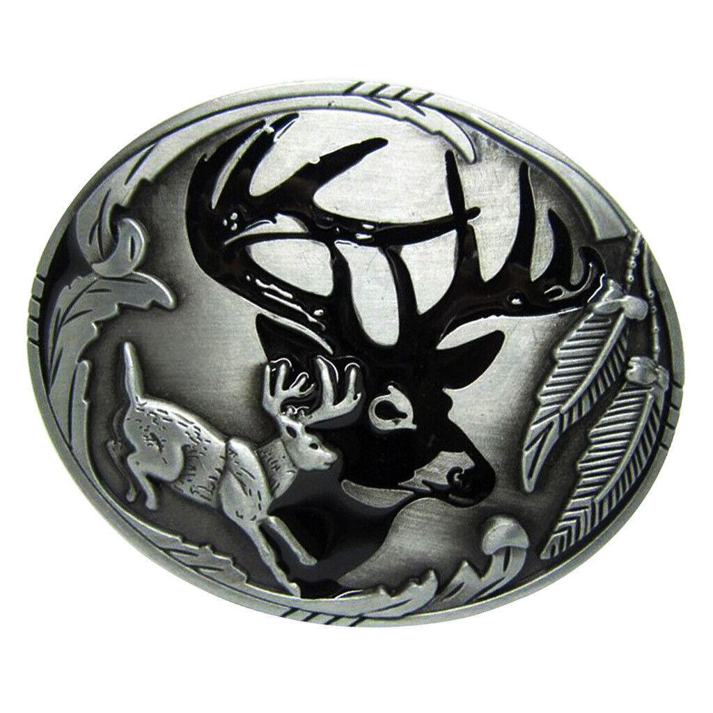 1 Stück Gürtelschnallen Herren Metall Vintage Westlich Cowboy - Silber