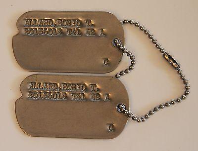 A set of Early WW2 U.S. Army Dog Tags