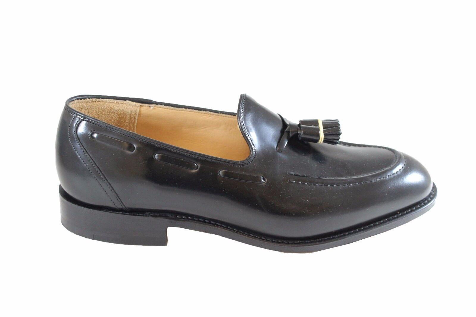 CHURCH'S Kingsley 2 Polishbinder schwarz loafers vitello spazzolato FIT G