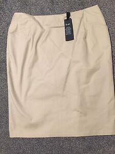 M-amp-S-Autograph-Supima-Cotton-Skirt-Neutral-BNWT-Size-16
