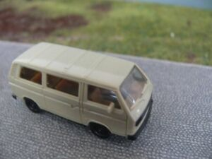 1-87-Herpa-VW-t3-furgoneta-gris-beige
