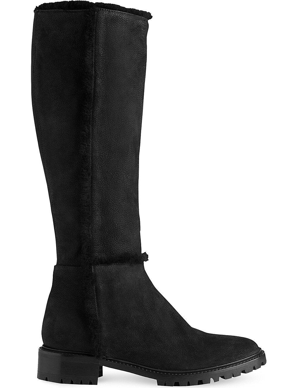 L.K. BENNETT TIMARA KNEE-HIGH NUBUCK Stiefel Größe  UK 8 - IT 41 - US 10.5