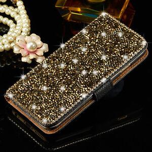 904bd36f9 Image is loading Luxury-Bling-Crystal-Diamond-Wallet-Flip-Leather-Case-