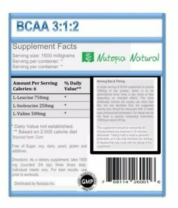 8-OZ-BCAA-3-1-2-Branched-Chain-Amino-Acids-Powder-Non-GMO-Free-Shipping