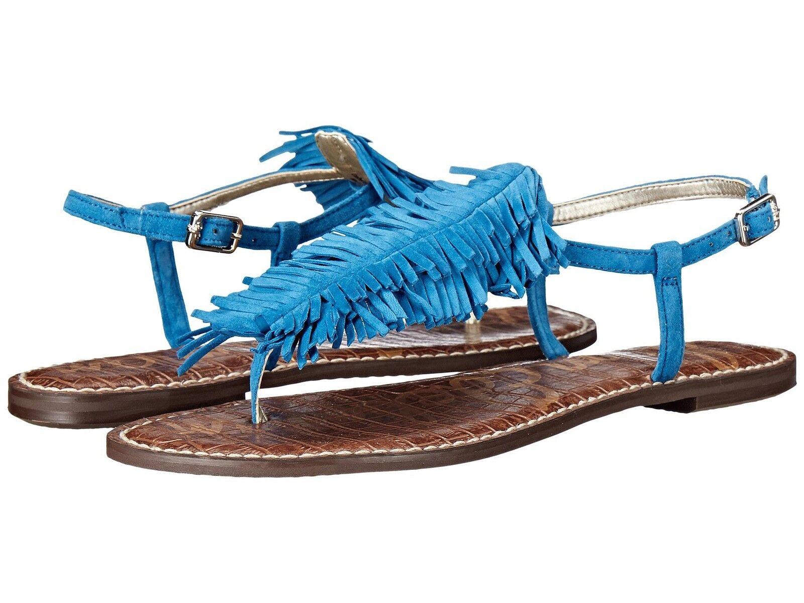 Sam Edelman Sandalias Mujer Boho Flequillos Gela Azul Talla 7 7 7 7.5 8 8.5 9 Nuevo  tienda en linea
