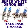 compatible avec RENAULT MEGANE 1996-1991 Set H1 H4 AMPOULES XÉNON SUPER BLANC