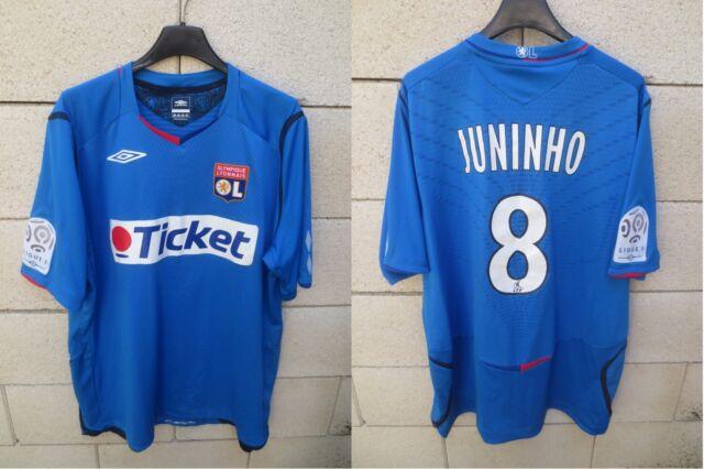 Maillot OLYMPIQUE LYONNAIS OL LYON JUNINHO n°8 Umbro shirt 2009 away bleu XL