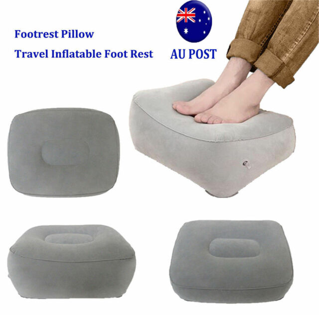 Plane Train Travel Inflatable Foot Rest Portable Pad Footrest Pillow Kids Bed NW