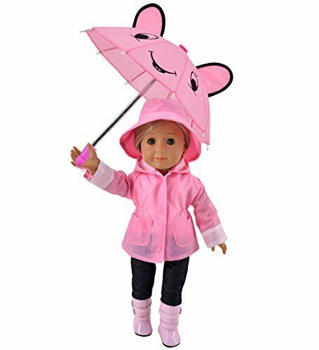 American Girl include Pioggia JA ca. 45.72 cm Ibayda 6 PCSET pioggia giacca bambola vestiti per 18 in