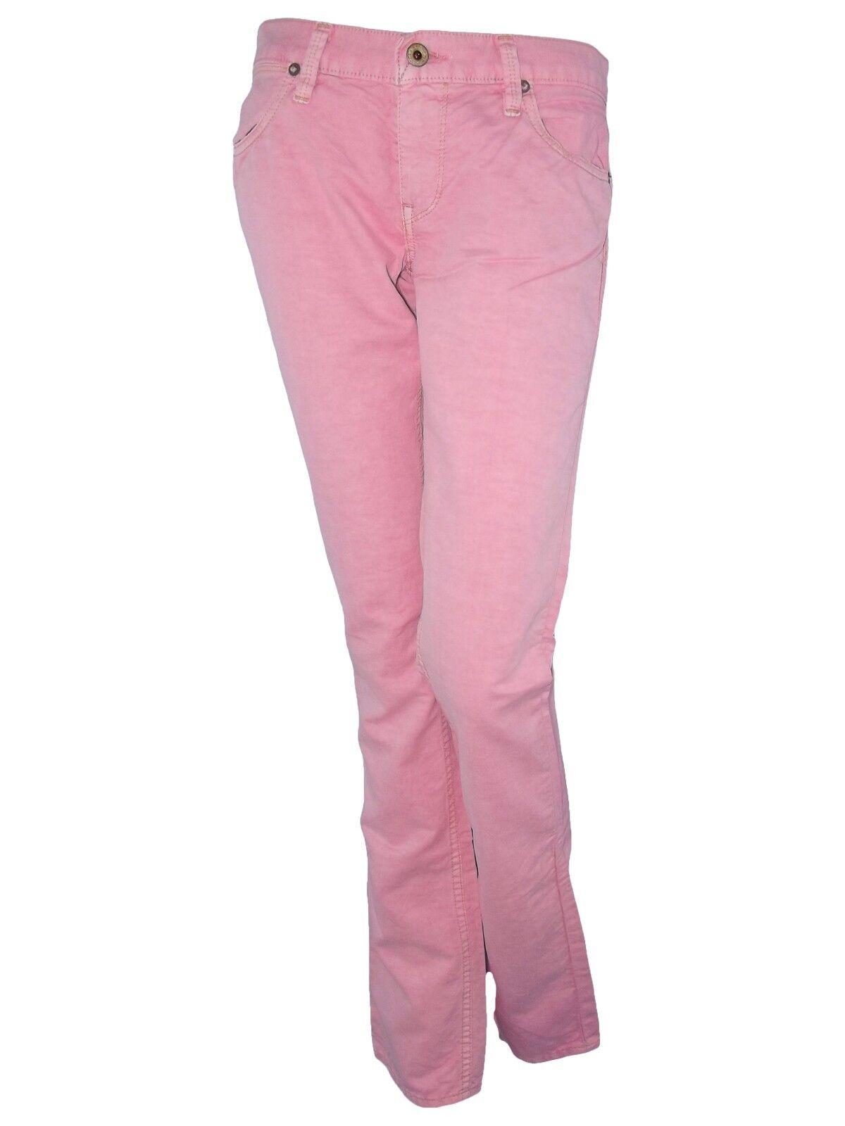 Ralph lauren donna jeans pantalone denim p e rosa avviocut taglia 40 41 w 26 27