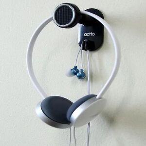 Earphone headset headphone wall hanger holder stand adjustable head length - Wall mount headphone holder ...