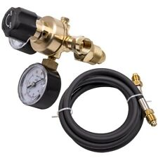 Industrial Argon Regulator Flowmeter Gauges For Mig Amp Tig Welders Hose Kit