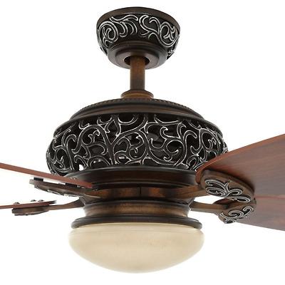 Old World 52 Ceiling Fan Remote Vintage Globe Light Kit Fancy Tuscan Fixture 718212341124 Ebay