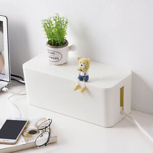 USB-Wire-Cable-Storage-Box-Case-Tidy-Management-Plug-Socket-Safety-Organizer-S-M